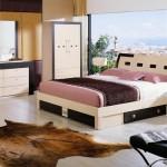 dormitor crem din pal in stil italian