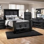 mobila neagra mata pentru dormitor in stil italian