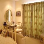 Draperii pentru dormitor din bumbac gros printat cu model floral