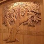 Model de usa cioplita manual in lemn