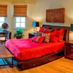 cuvertuna moderna rosie din jaquard cu model tesut