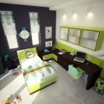 Camera de tineret inveselita de verde curd