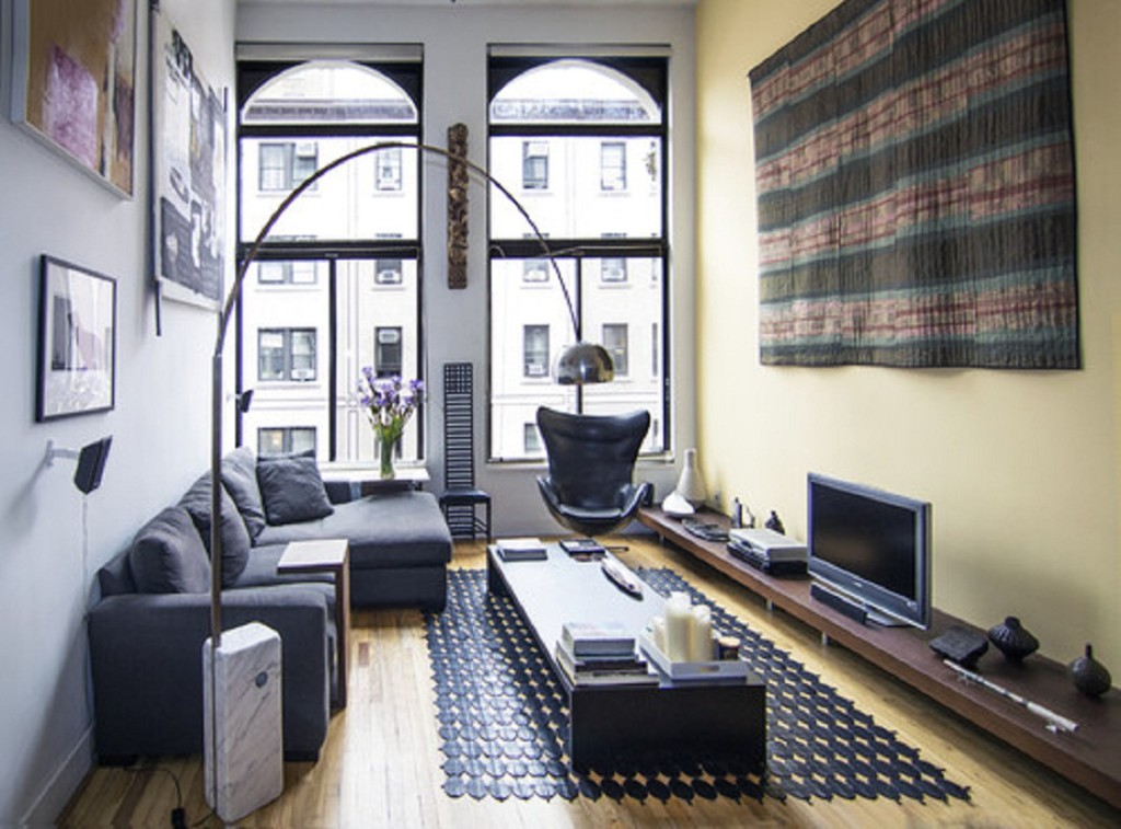 Living room amenjat in stil urban modern