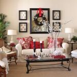 accente de rosu intr-un living room clasic