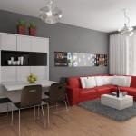 living mic de apartament cu mobilier ingenios si practic