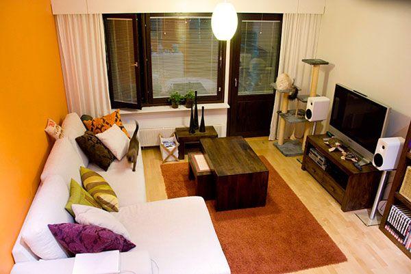 living mic intr-un apartament decorat ingenios