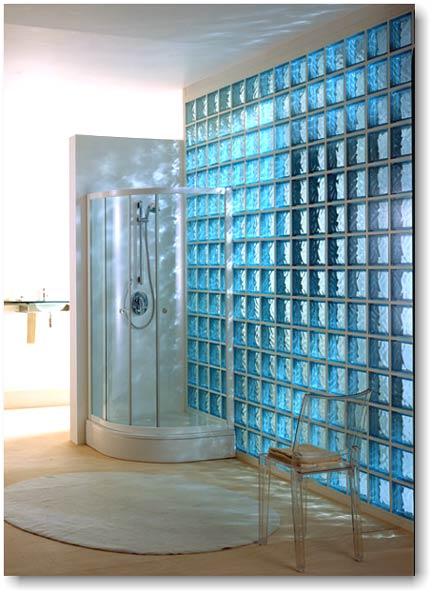 Cum construim un perete din caramida de sticla - Box doccia vetrocemento ...