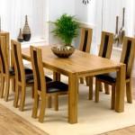 Masa-din-stejar cu scaune pentru dining