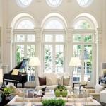 Amenajare eleganta cu mobilier alb si negru