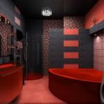 Cada si mobilier rosu cu gresie de diferite stiluri si modele