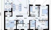 Proiect 1 Casa fara etaj cu 3 dormitoare