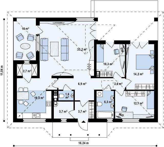 casa fara etaj cu 3 dormitoare
