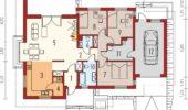 Proiect 2 plan casa cu 3 dormitoare la parter