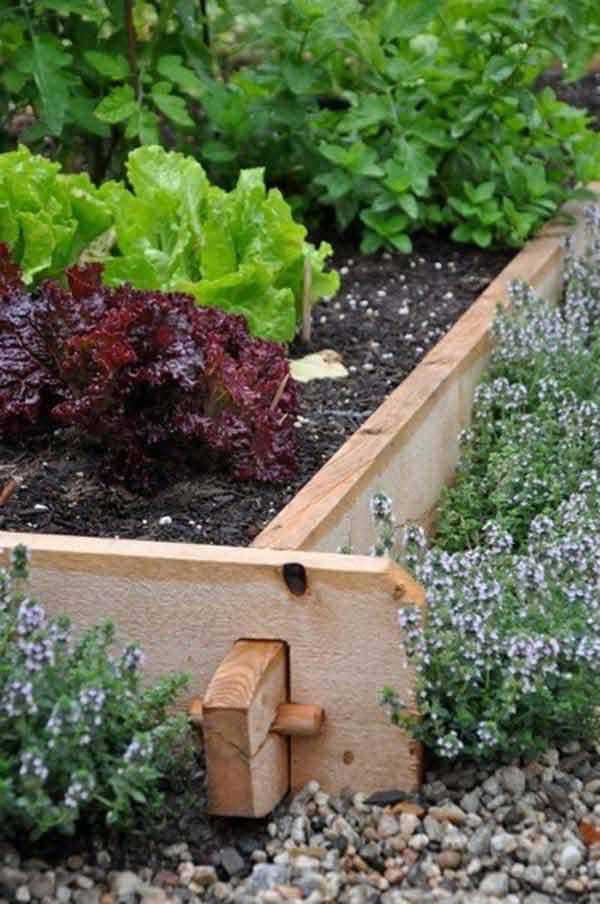 Bordura din lemn pentru gradina legume