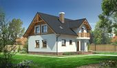 Casa cu mansarda din lemn