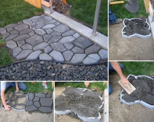 Cum faci pavele din beton cu matrita