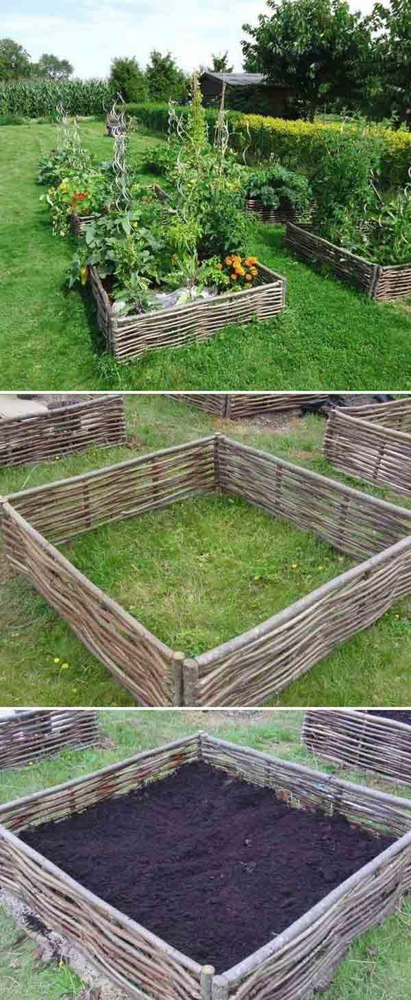 Etape construire rond pentru plantare legume