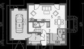 Plan parter casa open space