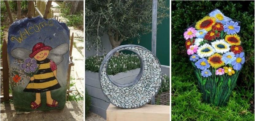 Proiecte DIY in gradina cu pietre